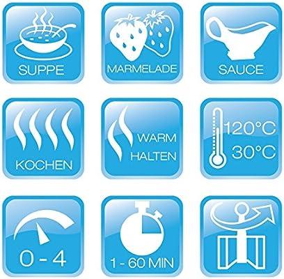 BEEM Germany Gigatherm Mix & Cook 12 in 1 - Robot de cocina, color gris: Amazon.es: Hogar