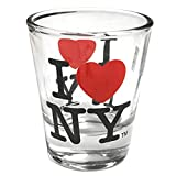 I Love New York Shot Glass, Officially Licensed I Heart NY Shot Glasses from NYC in Gift Box
