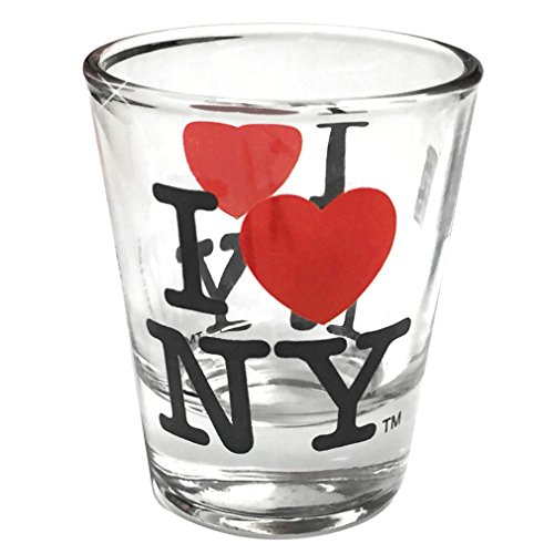I Love New York Shot Glass, Officially Licensed I Heart NY Shot Glasses from NYC in Gift Box -