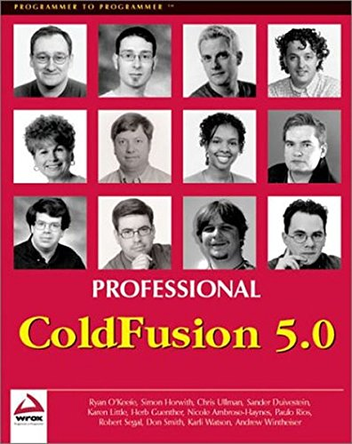 Professional ColdFusion 5.0 by Apress