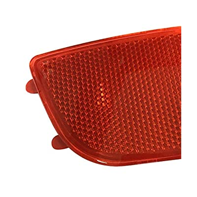 Exerock Red Lens Rear Bumper Reflector Left Driver Side Fit 2006-2016 Mercedes Sprinter 250 350: Automotive