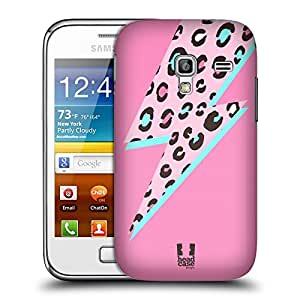 Head Case Designs Pink Thunderbolt Fashion Prints Protective Snap-on Hard Back Case Cover for Samsung Galaxy Ace Plus S7500