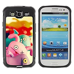 Hybrid Anti-Shock Defend Case for Samsung Galaxy S3 / Cute Characters