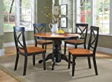 Oak Dining Room Table Home Styles 5168-318 5-Piece Dining Set, Black and Cottage Oak Finish