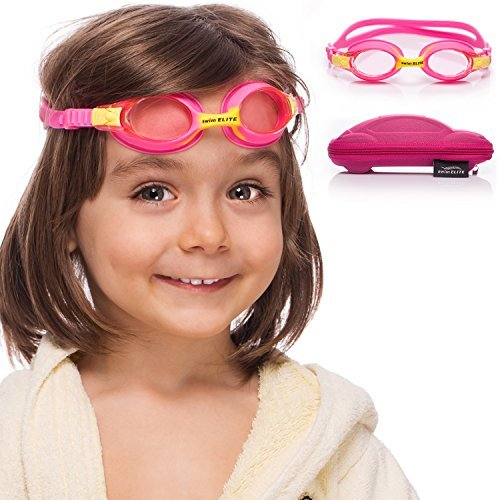 Kids Swim Goggles || Swimming Goggles for Kids (Age 2-8 Years Old) with Fun Car Hardcase for Easy Transportation || Cushioned Frames || Anti Fog Lenses || UV Protection ()
