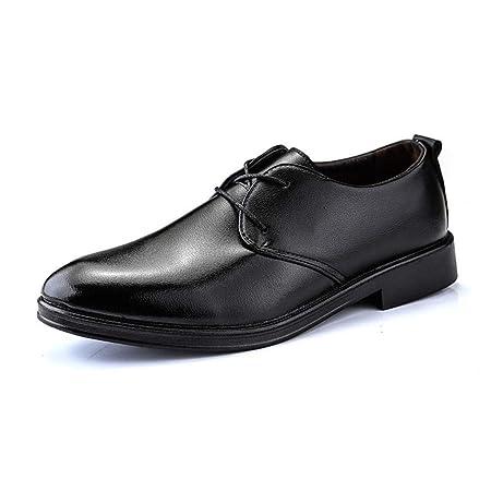 Apragaz Zapatos De Cuero con Cordones De Negocios Oxfords ...