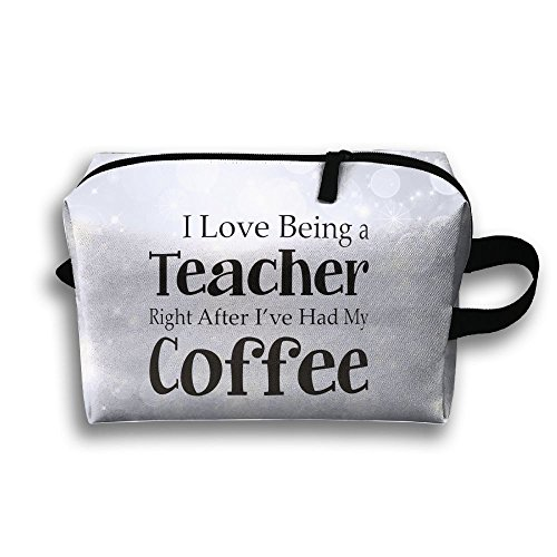Love Being Teacher After Coffee Travel Bag Multifunction Portable Toiletry Bag Organizer Storage by Loddgew (Image #1)