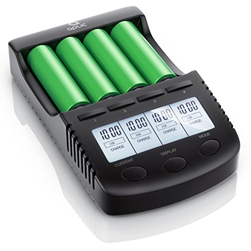 CSL – Power Akku Ladegerät – Universale Akku Ladestation Intelligent Battery Charger – – beleuchtetes LCD-Display Auto…