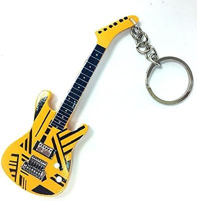 Llaveros de madera con forma de guitarra - Van Halen - Eddi Van ...