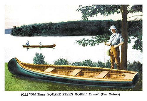 Square Stern Model' Canoe Museum quality giclee print canvas wrap(20