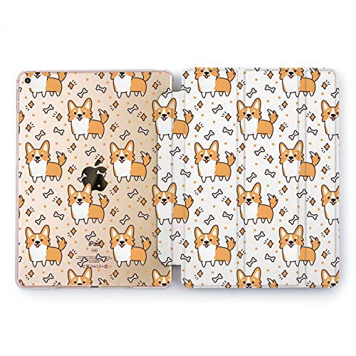 Wonder Wild Corgi Bones Apple iPad Pro Case 9.7 11 inch Mini 1 2 3 4 Air 2 10.5 12.9 2018 2017 Design 5th 6th Gen Clear Smart Hard Cover Animals Dog Cute Pet Breed Adorable Girly Pattern Fur Bark -