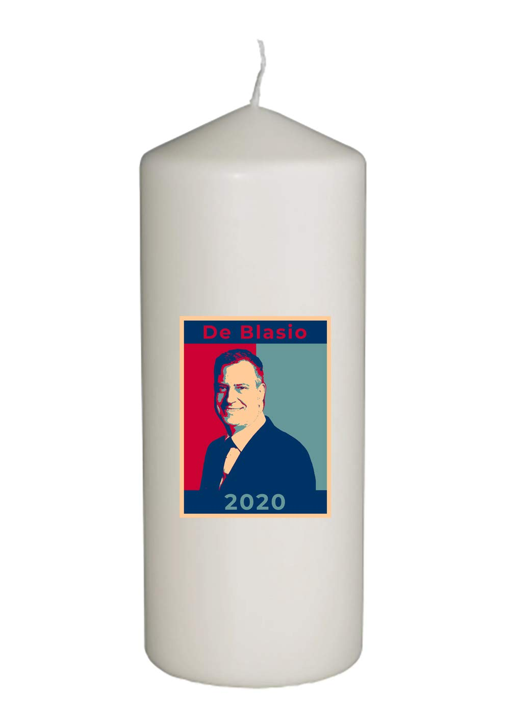 Hat Shark United States USA President Presidential Election Voting 2020 Bill De Blasio Democratic Party White House Candidates - Thick White in Full Color Unity Candle (De Blasio)