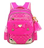 Fanci Cute Bowknot Rhinestone Kids School Backpack Sweet Princess Doll Waterproof Primary School Book bag Review