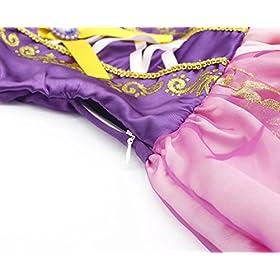 - 51FP3CxCzXL - Cotrio Rapunzel Dress Up for Girls Halloween Princess Costume Birthday Theme Party Dresses