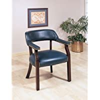 Coaster Home Furnishings Upholstered Guest Chair Blue