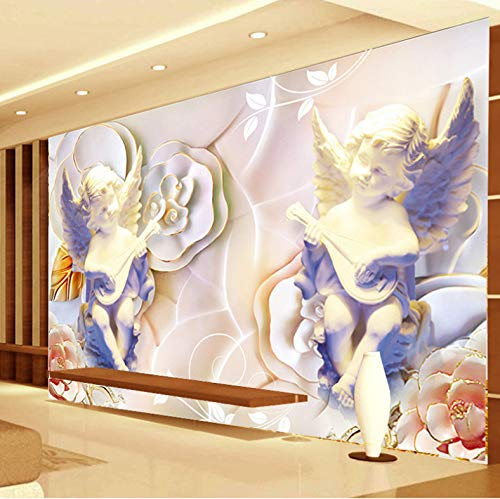 3D Wall Stickers Decorations Murals Wallpaper Cupid Statue Angel Living Room Sofa Background Art Kids Room (W)250x(H)175cm
