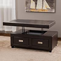 Christopher Knight Home Stafford Bonded Leather Adjustable Lift Top Table