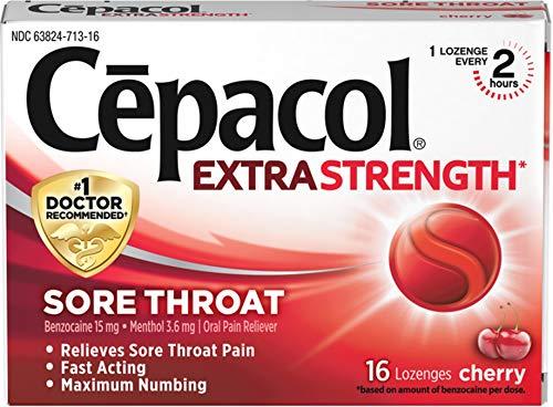 Cepacol Maximum Strength Throat Drop Lozenges, Cherry, 16 ea ()