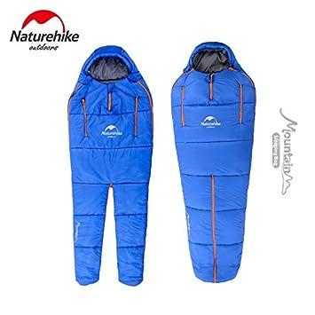 Saco de dormir de algodón impermeable para camping ultraligero para 1 persona, color L, tamaño Azul: Amazon.es: Deportes y aire libre