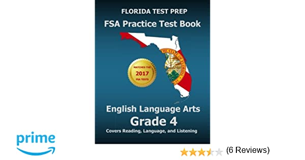 FLORIDA TEST PREP FSA Practice Test Book English Language Arts ...