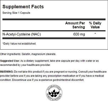Swanson N-Acetyl Cysteine 600 mg 100 Caps 3 Pack