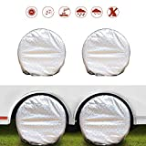 NEVERLAND Set of 4 Tire Covers, Waterproof UV Sun RV Trailer Tire Protectors