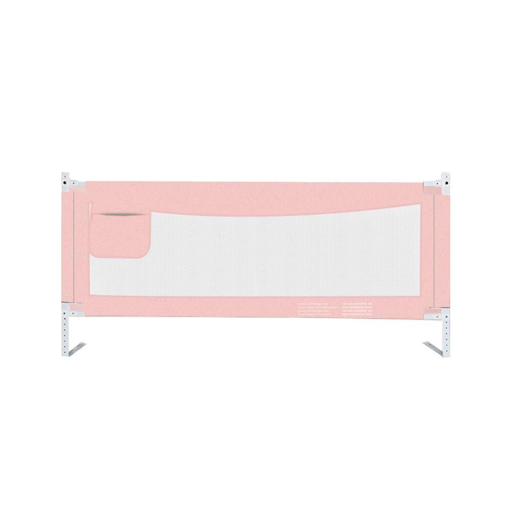 JY 垂直リフトベビーベッドレール子供、エクストラロングベッドガード幼児安全ベッドレール、ベビードロップ抵抗保護フェンス (色 : Pink, サイズ さいず : 150cm) 150cm Pink B07MSGTFK8