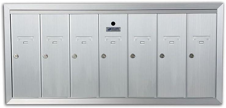 3 Door Mailbox Surface Mount Vertical 1250 Series Anodized Aluminum