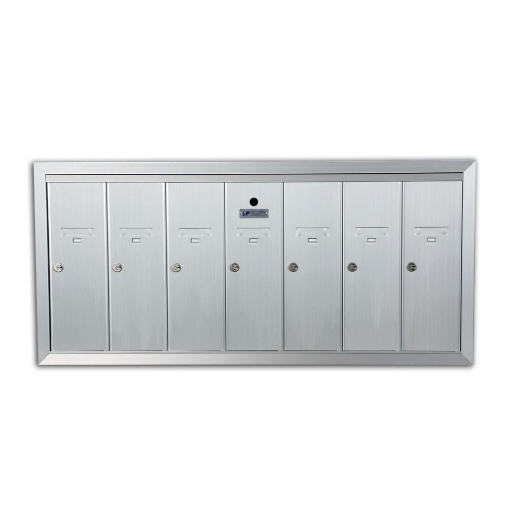 Recessed垂直7ドアメールボックス、陽極酸化アルミニウム   B003XSC4I2