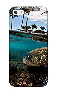 New RMSIGpi11183KBLls Turtle Skin Case Cover Shatterproof Case For Iphone 5C