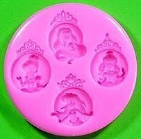 Princesa Cenicienta Molde de silicona para la torta de Decoraci/ón Pastel de Cupcake Toppers Glaseado Sugarcraft Tool por Fairie Blessings