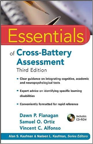 Amazoncom Essentials Of Cross Battery Assessment 0000470621958