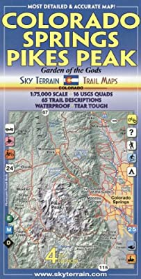 Colorado Springs & Pikes Peak Trail Map 4th Edition: Amazon.ae ...