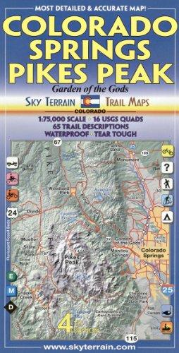 Colorado Springs & Pikes Peak Trail Map 4th Edition