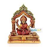CraftVatika Lakshmi Idol Marble Sculpture Hand Made Goddess Laxmi Diwali Puja Murti Stone Statue
