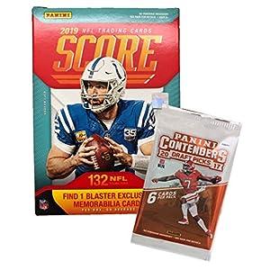 2019 Score NFL Football Blaster Box 132 Cards & 1 MEMORABILIA Card per Box plus a Bonus Pack
