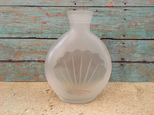 Frosted Seashell Bud Vase (Frosted Glass Bud Vase)
