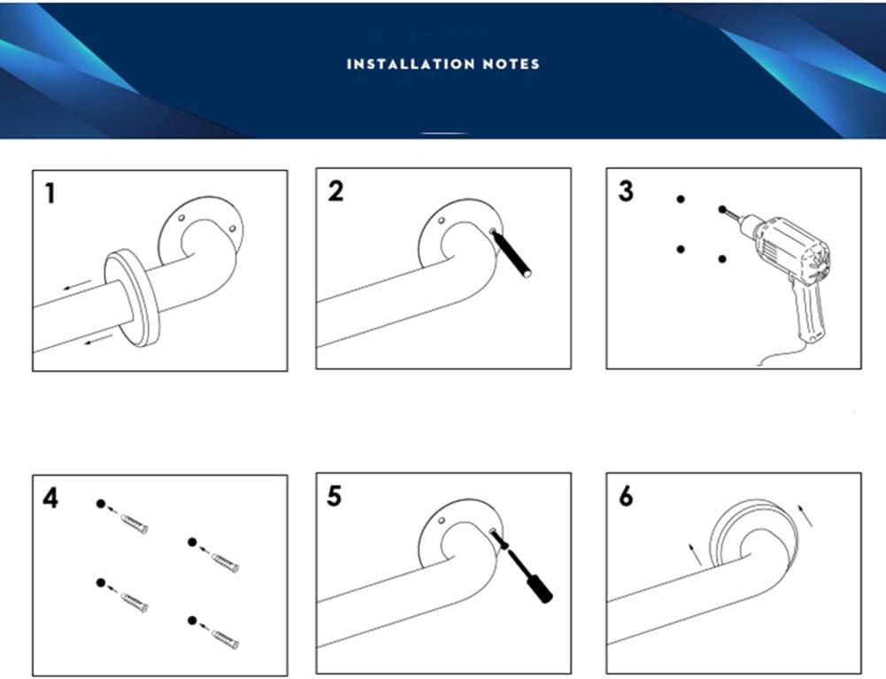 WYRX S/écurit/é Senior Rampe Toilette Toilette Baignoire Slip Hand in 304 en Acier Inoxydable Noir 90Cm
