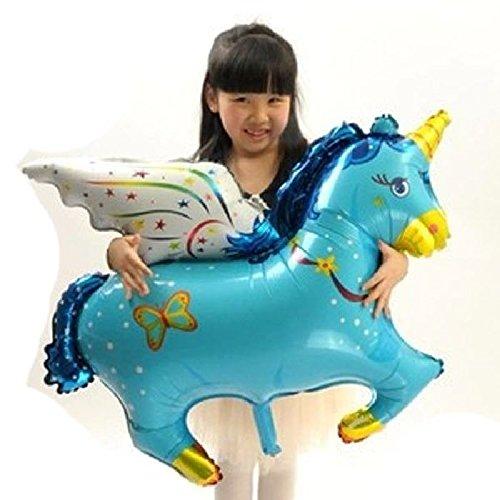 mondial-Fete - Unicornio Pegaso Hinchable Azul 1 Metro ...