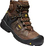 "KEEN Utility - Men's Dover 6"" WP Carbon Fiber Toe Waterproof Work Boots for Construction, Landscaping, Maintenance, Transportation and Utilities, Dark Earth/Black, 10.5EE M US"