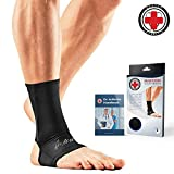 Doctor Developed Copper Compression Lightweight Ankle Sleeve / Ankle Support, Ankle Brace, Foot Sleeve -GUARANTEED Arthritis Relief, Plantar fasciitis, Injury recovery + FREE Doctor Handbook (XL)