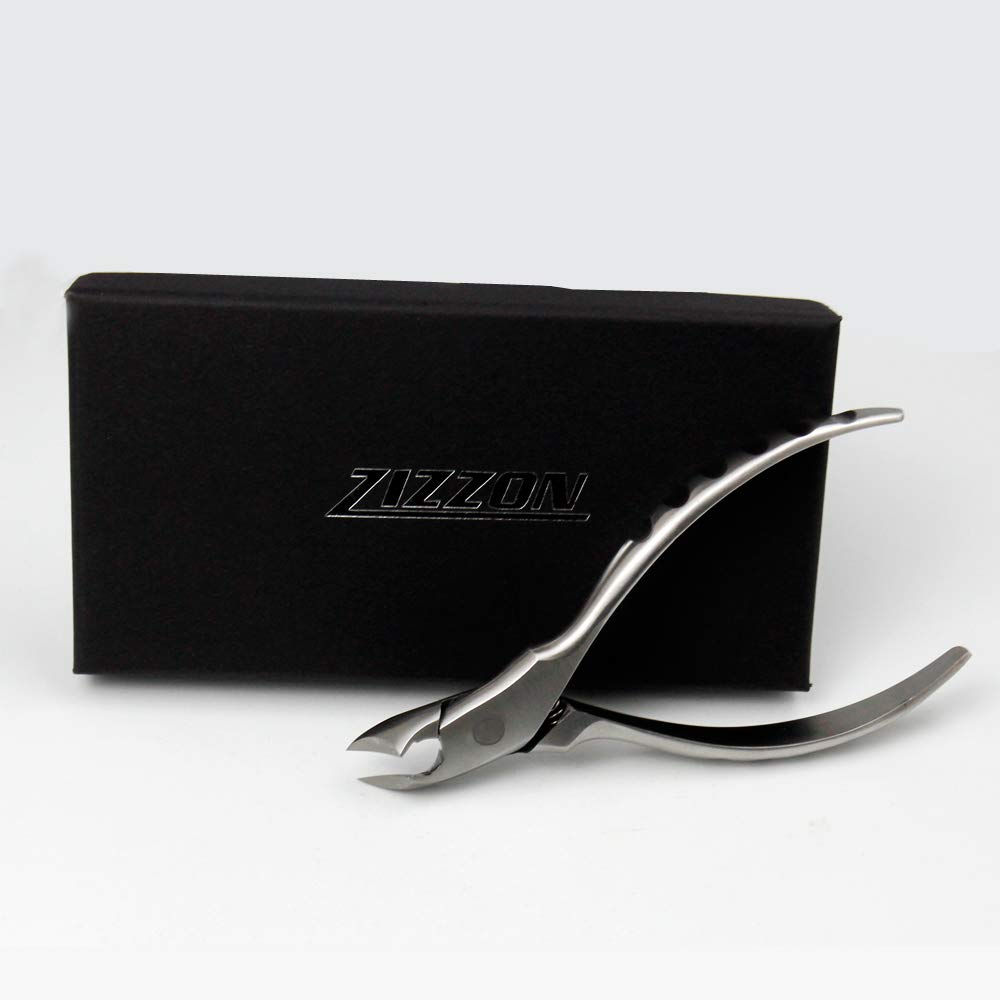 ZIZZON Toenail Clippers for Thick or Ingrown Toenails Surgical Grade Podiatrist's Clippers by ZIZZON