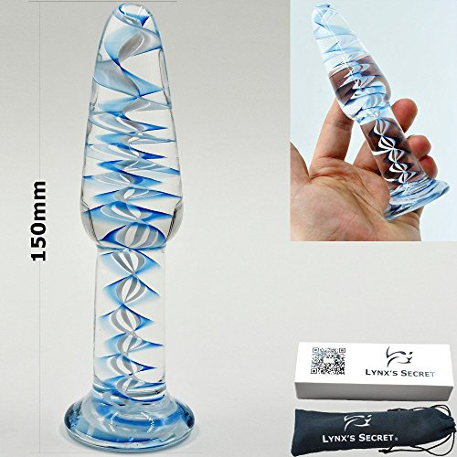 Clearance Sale Ripple Long Pyrex Glass Anal Butt Plug Crystal Bead Dildo Female Male Masturbation Adult Products Sex Toys for Women Men Gay by Crazy Sexy Cool