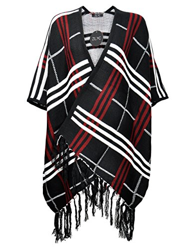 ZLYC Fashion Plaided Pattern Cardigan product image