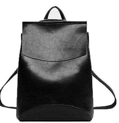 GMBBB180997 AgooLar Pu Femme Cuir Mode Zippers dos à de Noir Daypacks Sacs randonnée Daypack HRZHx1q