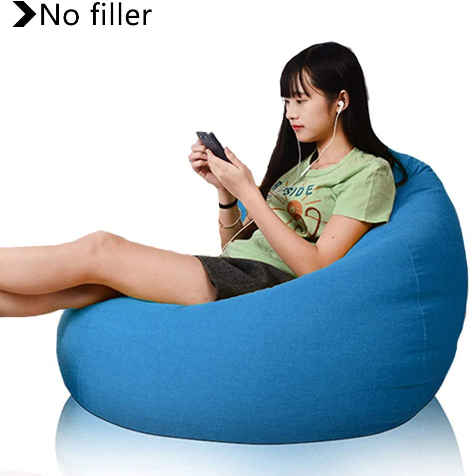 Recliner Gaming Bean Bag Covers Soft and Wear-Resistant Linen for Perfect Lounge Or Gaming Chair Ergonomic Design for The Dedicated Gamer,Blue,60X70CM Bean Bag Chair Covers