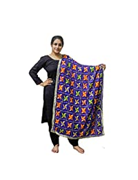 10d4cceb2dfa0 Sahej Suits Royal Blue Phulkari Pankha Dupatta