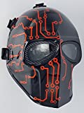 Airsoft Full Face Mask Army of two Cosplay Halloween mask Paintball Ghost Masks (Metric)