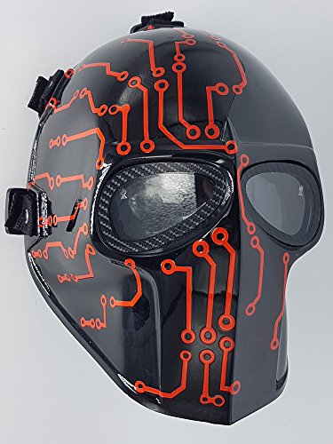 Airsoft Full Face Mask Army of two Cosplay Halloween mask Paintball Ghost Masks (Metric) ()