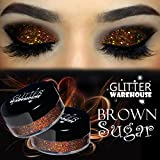 GlitterWarehouse Brown Sugar Holographic Loose Glitter Eye Shadow Powder (20g Jar)